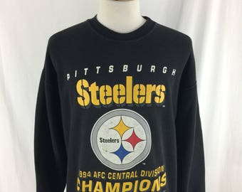 Vintage 90s Pittsburgh Steelers 1994 AFC Central Division Champions Nutmeg Mills