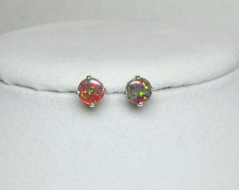 Opal Earrings, Opal Studs, Mexican Opals, Opal Stud Post, Stud Earrings, Opal Jewelry