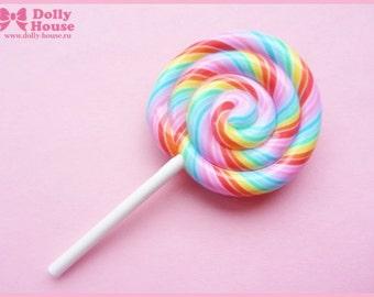 Rainbow Lollipop Candy Brooch by Dolly House