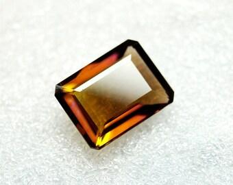 60% OFF Ametrine Faceted Gemstone / Emerald Cut Stone Ametrine Faceted 15x12x6 mm