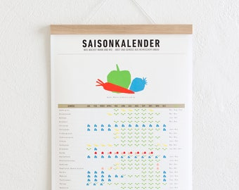 Set/Seasonal calendar + poster for Oak A3