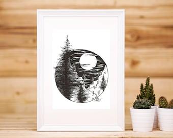 Pine Tree Valley Print