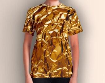 Crumpled Golden Foil, Women's T-shirt