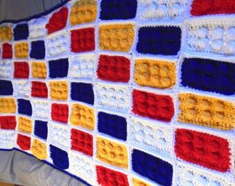 Lego block blanket