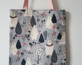 Small unlined tote bag