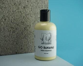 Dog Shampoo, Natural Dog Shampoo, Banana Dog Shampoo, Fresh Shampoo, Dog Grooming, Natural Dog Bath Supplies, Go Bananas Dog Shampoo