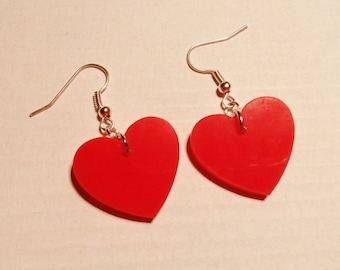 Red Queen Of Hearts Wonderland Earrings