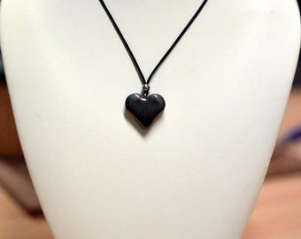 Blue and green ceramic Heart Necklace