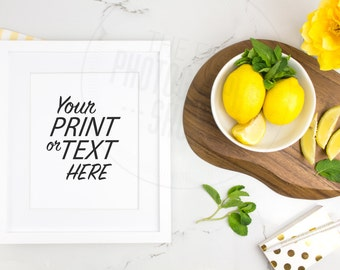 Print Background / Blank Frame / Styled Stock Photography / Product Photography / Staged Photography / Fruit / Health / Kitchen / K009S