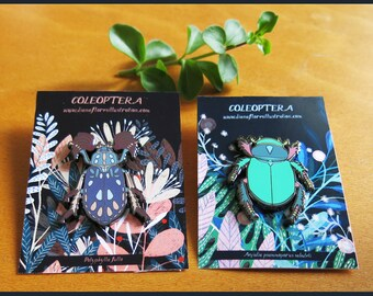 COLEOPTERA Beetle Enamel Pins