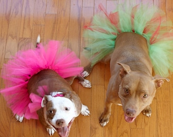 Large Dog Tutu - Hot Pink, Purple or Red and Green - Hot Pink Tutu, Purple Tutu, Red and Green Tutu, Dog Tutu, Tutu for Large Dogs