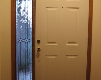Sidelight of Stained Glass, custom made for your front door.