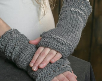 Fingerless gloves knitted arm warmers woman trendy mittens