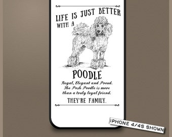 Poodle dog phone case cover iPhone Samsung ~ Can be Personalised