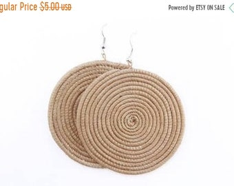 ON SALE SISAL Earrings, Sisal Jewelry, African Earrings, African jewelry, Tribal earrings, Tribal jewelry, Bohemian earrings, Woven Earrings