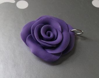 Sculpted Pendant Necklace Royal Purple Rose