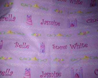 Purple Disney Princess Fabric