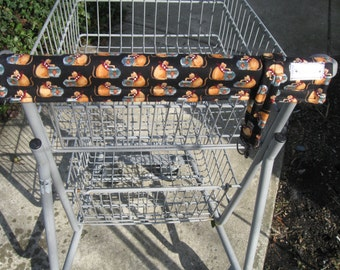 Shopping Cart Cover w/tote strap- Cat Print -Grocery Cart Handle Cover - Shopping Cart Handle Cover