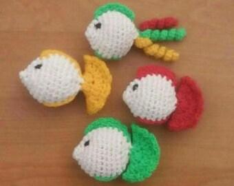 Crochet Catnip Cat Toy, Catnip Fish Toy, Organic Catnip Toys, Kitten Toys, Catnip Toys, Cat Present, Soft Catnip Cat Toy, Crochet Fish Toys