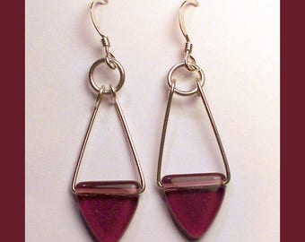 SWAROVSKI CRYSTAL EARRINGS - Handcrafted Sterling Silver Dangle Earrings - Made In Maine
