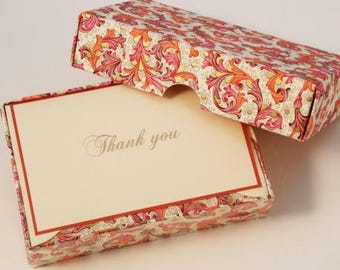 Red Florentine Thank You Cards Italian Letterpress