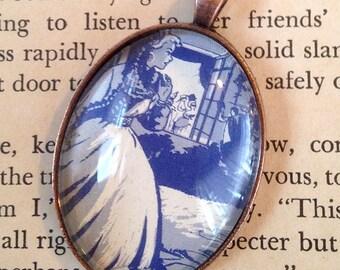 """Nancy Drew """"The Clue of the Velvet Mask"""" pendant"""