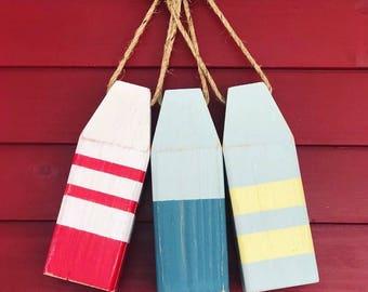 Lobster Buoys - Wooden Buoys, Nautical Decor, Buoy Decor, Ocean Decor, Beach Decor