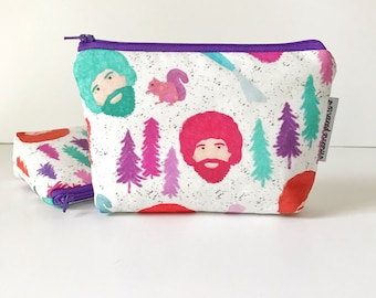 simple pouch -- Mr. Ross in bright