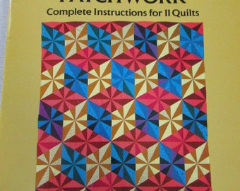 Equilateral Triangle Patchwork, Sara Nephew,Dover Needlework Series,1986
