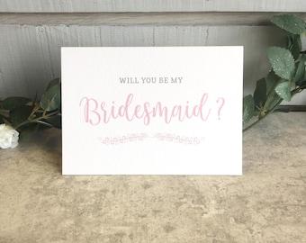 Bridesmaid Card - Simple Elegance