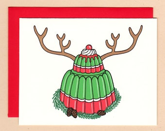 Christmas Gelatin Holiday Card