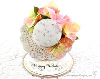 Floral Bonnet Card, Birthday Card, Handmade Card, Homemade Card, Glückwunschkarten