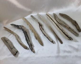 Driftwood Pieces - Bulk Driftwood - 9 Round Drift Wood Pieces - Craft Supplies - Drift Wood