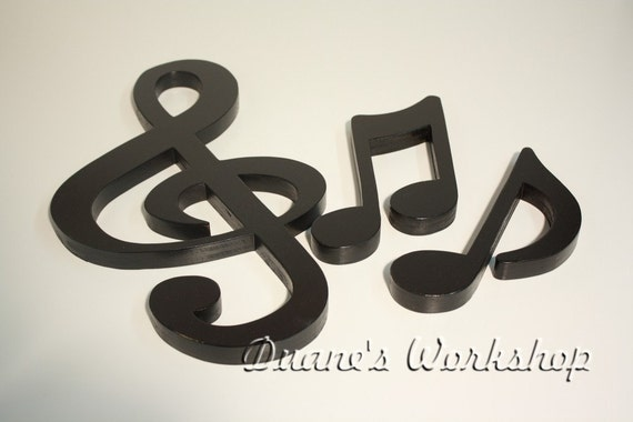 15 Treble Clef Set Decoration Home Decor Musical Noterhetsy: Music Note Home Decor At Home Improvement Advice