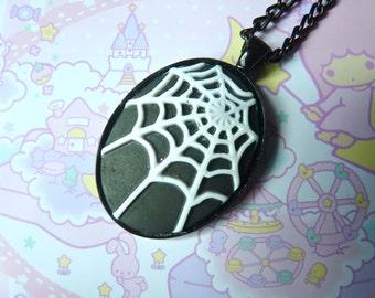 Spider Web Gothic Necklace