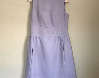 Vintage Lavender Purple Mock Neck Mod Scooter Dress from the 60's