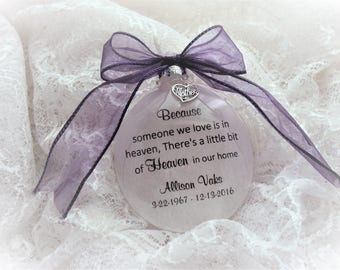 Memorial Ornament for Mother, Father, Sister, Brother, Loved One, with charm