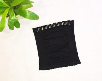 Black Tubetop | Women's/Juniors Strapless Shirt | Sparkly Top Diamond Tank