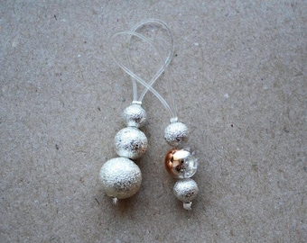"Handmade Knitting Stitch Markers With Sparkling Metal Beads ""Sparkle"" set of 2"