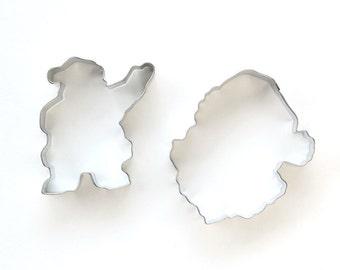 Santa Cookie Cutter Set (2 cookie Cutters) Christmas Cookie Cutters, Santa Claus Cookie Cutters