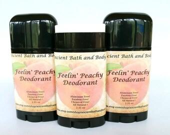 Feelin' Peachy Deodorant, Peach Deodorant, Natural Deodorant, Aluminum Free Deodorant, Gluten Free