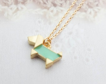 Gold Dog Necklace Gold necklace Tiny Charm necklace Animal necklace Cute necklace Gift mom Birthday Gift best friend Birthday Gift sister