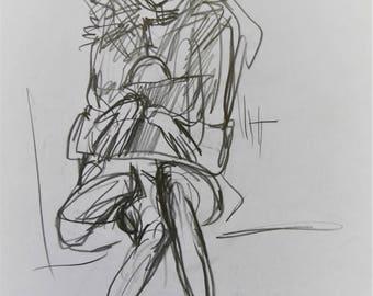 sketch girl a4