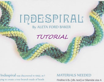 Indespiral Design Tutorial Spiral Peyote Beading Instant Download PDF
