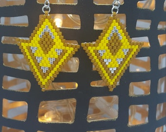 Yellow/brown Cappadocia with bicycle earrings