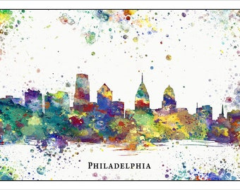 PHILADELPHIA Skyline, PENNSYLVANIA, Map of Philadelphia, Philly, Philadelphia Eagles, Flyers, 76ers, Phillies, U of Penn, Temple University