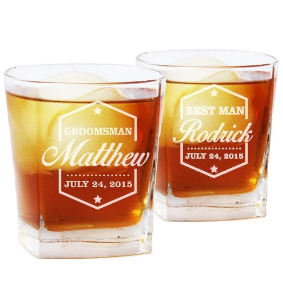 Verre Whisky Personnalisé Monogramme Whisky Verres Verres De