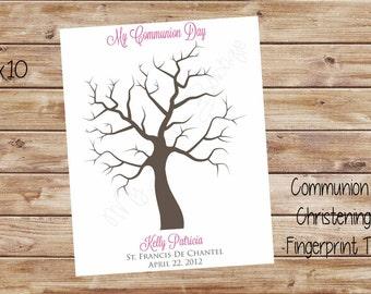 Communion or Christening Fingerprint Tree