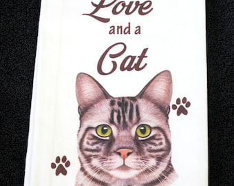 Silver Tabby Cat Breed Cotton Kitchen Dish Towel