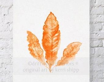 Sea Fan in Tangerine II Print